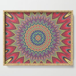 Flame mandala Serving Tray
