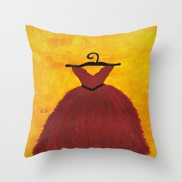 RED in Acrylics Throw Pillow