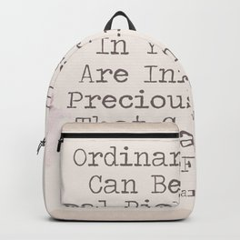 Real Riches Cannot Be Stolen Oscar Wilde Quote Backpack