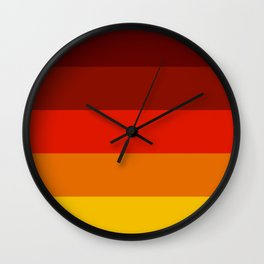 Multicolor Retro Strips Wall Clock
