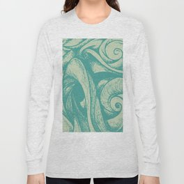swirl (green and tan) Long Sleeve T-shirt