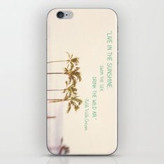 Sunshine, Sea, Air iPhone & iPod Skin