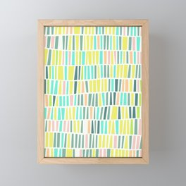Terrazzo pastel overlay Framed Mini Art Print