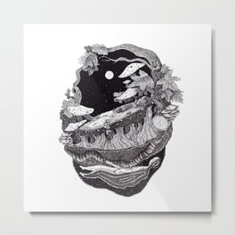 dark spirit of the nature collab franciscomff Metal Print