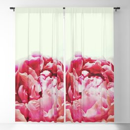 Pink peony Blackout Curtain