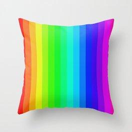 Vertical Rainbow Throw Pillow