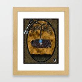 Book Cover Illustration Framed Art Print