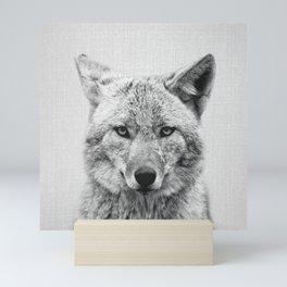 Coyote - Black & White Mini Art Print