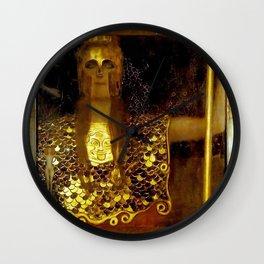 """Pallas Athena"", Gustav Klimt Wall Clock"