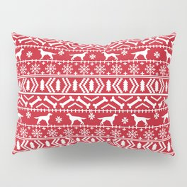 Irish Setter fair isle christmas red and white holiday sweater gifts dog breed Pillow Sham