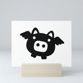 Pigs Will Fly (b&w) Mini Art Print