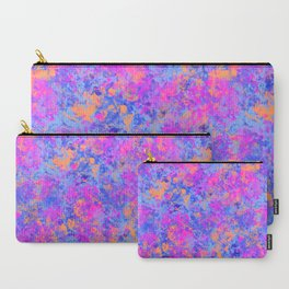 Marbled Texture Pattern Carry-All Pouch