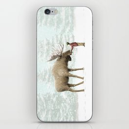 Winter Moose iPhone Skin