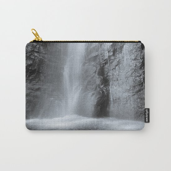 """""""Mountain waterfall"""". Monochrome Carry-All Pouch"""