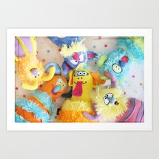 Little Monsters Art Print