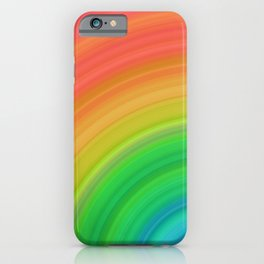 Bright Rainbow | Abstract gradient pattern iPhone Case