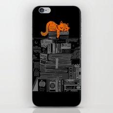 Sleeping On My Threasure Black And White iPhone & iPod Skin