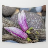 magnolia Wall Tapestries featuring Magnolia by LebensART Photography