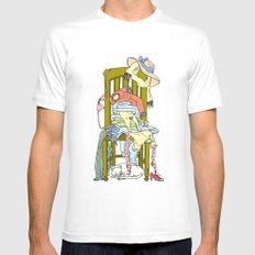 My favorite place  MEDIUM Mens Fitted Tee White
