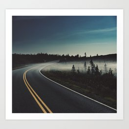 Midnight Mist Art Print