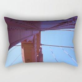 Looking Up, Walking the Golden Gate Rectangular Pillow