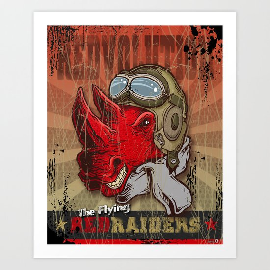 Flying Red Raiders Art Print