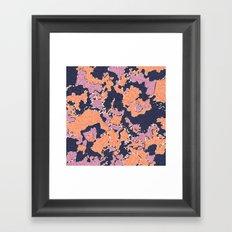 Cartografía de Orquídea (on blue) Framed Art Print