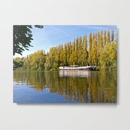 Autumn colours at Auvers-sur-Oise. Metal Print
