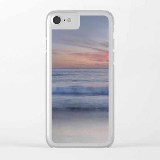 """""""Magical waves at sunset"""" Clear iPhone Case"""
