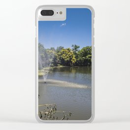 Fountain Pond Clear iPhone Case