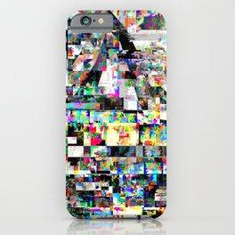 Volcanic Sunset Glitch iPhone Case