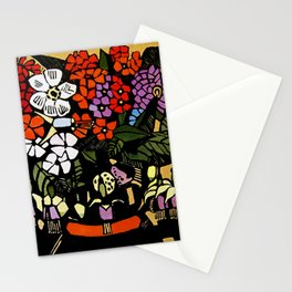 """Fuschia"" Woodblock Print by Margaret Preston Stationery Cards"