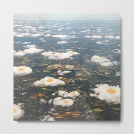 Eggy Clouds - Sunny side up Metal Print
