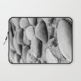 Black and White Stones Laptop Sleeve
