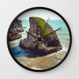 Shark Fin Cove Broad Day Wall Clock