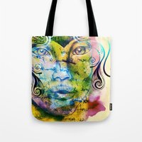 fairy tale Tote Bags featuring Fairy Tale by Irmak Akcadogan
