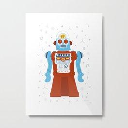 Atomic Robot Metal Print