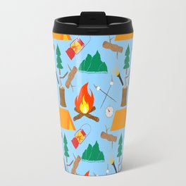 Let's Explore The Great Outdoors - Light Blue Travel Mug