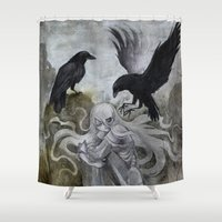 ghost Shower Curtains featuring Ghost by Savannah Horrocks