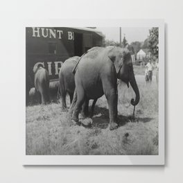 Vintage Circus Photographic Print Metal Print