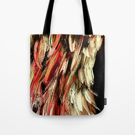 Angel Wing Rich Red and Gold - Left Tote Bag