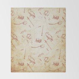 Wizard vintage pattern Throw Blanket