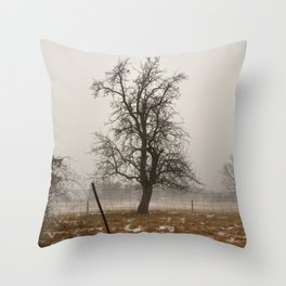 Tree Stands Tall Throw Pillow