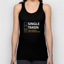 Single Taken I Am A Unicorn Unisex Tank Top