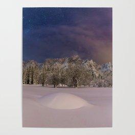 Aurora Sunrise in Snow Antarctica (Color) Poster