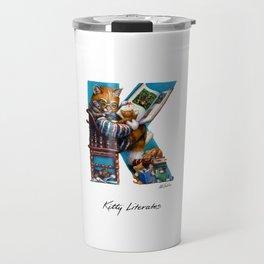 Kitty Literates Travel Mug