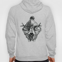 Mr. Sparrow and the cat's skull Hoody