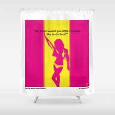 No106 My Weird science minimal movie poster Shower Curtain
