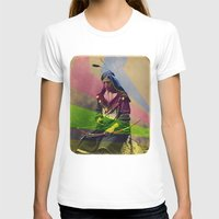 native american T-shirts featuring Native American by Owen Addicott