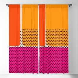 Colorful art, interior, matisse, picasso, drawing, decor, design, bauhaus, abstract, decoration, hom Blackout Curtain